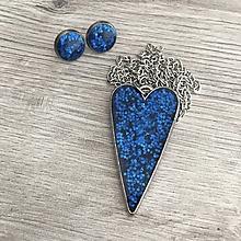 Sady šperkov - Srdiečkový set modrý - 11386482_