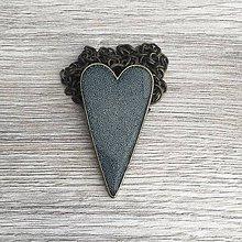 Náhrdelníky - Živicový náhrdelník srdiečko modré - 11386691_