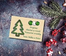 Magnetky - Vianočná drevená magnetka - 11387104_