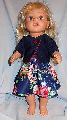 Hračky - kabátik + sukňa pre baby born sister 43 cm - 11387963_