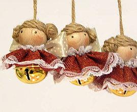 Dekorácie - Vianočná ozdoba - Anjelik / rolnička - cingi lingi - 11387409_