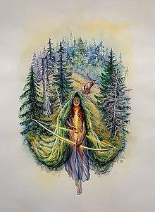 Obrazy - Devana - Matka lesov - 11386242_