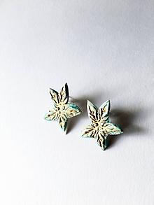 Náušnice - hviezdy/keramika/ - 11386066_
