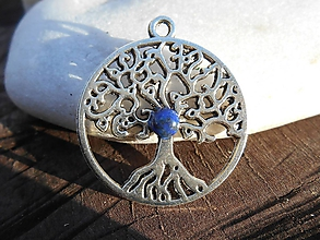 Náhrdelníky - tree for happy with lapis lazuli - 11386862_