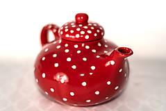 Nádoby - Červený čajníček - 11387328_