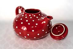 Nádoby - Červený čajníček - 11387329_