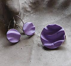 Sady šperkov - fialkový set vlnky / Akcia! - 11386317_