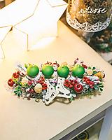Dekorácie - Vianoce - svietnik - červenozelený - 11387799_