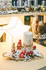 Dekorácie - Vianoce - svietnik - deti - 11387827_