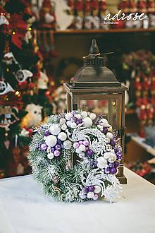 Dekorácie - Vianoce - veniec - zimná rozprávka - 11386289_