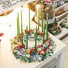 Dekorácie - Vianoce - svietnik - vysoký - 11387781_