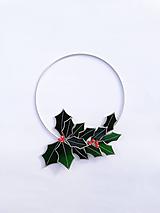 Dekorácie - Vianočný veniec - sklenený - 11386491_
