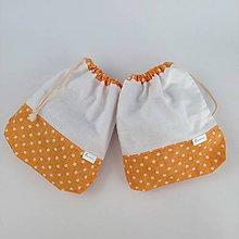 Úžitkový textil - vrecko bavlnené oranžové - 11387815_