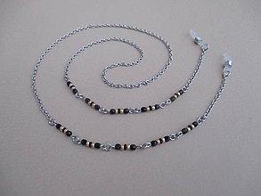 Iné šperky - Retiazka na okuliare - čierno/zlatá - chirurgická oceľ - 11387604_