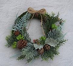Dekorácie - Vianoce na prírodno - veniec 47 - 11386124_
