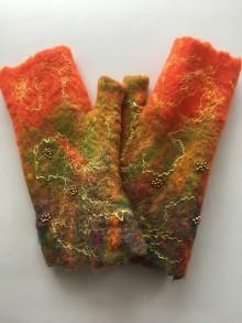Rukavice - Žiarivé bezprstové rukavice - 11386084_