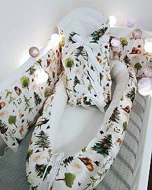 Textil - Set Hniezido a Perinka Zvieraká v lese - 11387498_