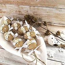 Dekorácie - Vianočný oriešok - Cappuccino hviezdičky (béžové) - 11385629_