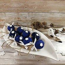 Dekorácie - Vianočný oriešok - Hviezdička (modré) - 11385697_