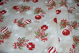 Úžitkový textil - Červený vianočný obrus - 11386583_