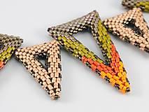 """Náhrdelníky - Náhrdelník - trojuholníky """"tekvicové"""" - 11387524_"""