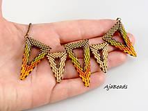 """Náhrdelníky - Náhrdelník - trojuholníky """"tekvicové"""" - 11387525_"""