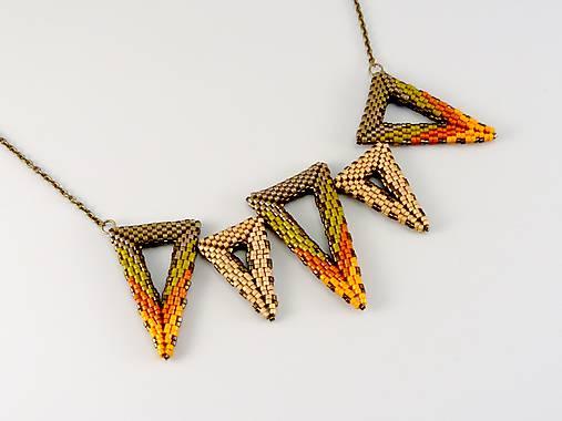 Náhrdelník - trojuholníky