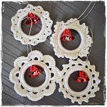 Dekorácie - Vianočné ozdoby (sada s červeným zvončekom) - 11385837_