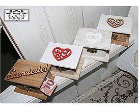 Krabičky - Mini krabičky na peňažné dary :) - 11387728_