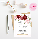 Papiernictvo - svadobné oznámenie S207 - 11385854_