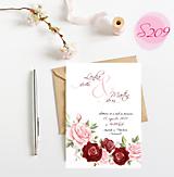 Papiernictvo - svadobné oznámenie S209 - 11385876_