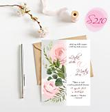 Papiernictvo - svadobné oznámenie S210 - 11385885_