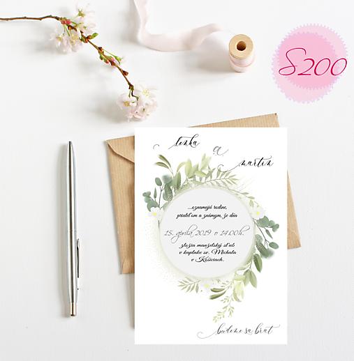 svadobné oznámenie S200