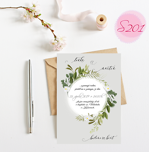 svadobné oznámenie S201