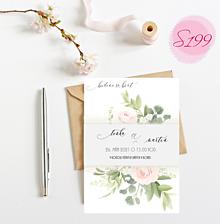 Papiernictvo - svadobné oznámenie S199 - 11385821_
