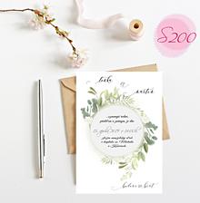 Papiernictvo - svadobné oznámenie S200 - 11385829_