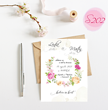 Papiernictvo - svadobné oznámenie S202 - 11385832_