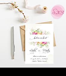 Papiernictvo - svadobné oznámenie S203 - 11385833_