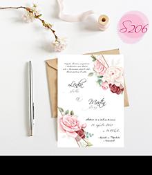 Papiernictvo - svadobné oznámenie S206 - 11385843_