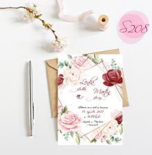 Papiernictvo - svadobné oznámenie S208 - 11385872_