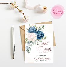 Papiernictvo - svadobné oznámenie S211 - 11385928_