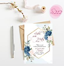Papiernictvo - svadobné oznámenie S212 - 11385932_