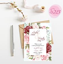 Papiernictvo - svadobné oznámenie S213 - 11385943_