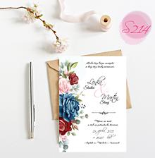 Papiernictvo - svadobné oznámenie S214 - 11385947_