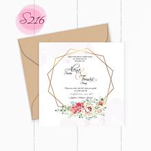 Papiernictvo - svadobné oznámenie S216 - 11385962_