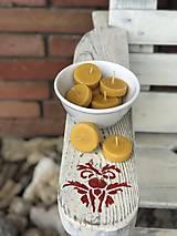 Svietidlá a sviečky - ZEROWASTE čajovky z včelieho vosku - 11387171_