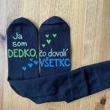 """Obuv - Maľované ponožky s nápisom: """"Najlepší dedko, čo dovolí všetko"""" (čierne 1) - 11385779_"""