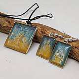 Sady šperkov - Živicový náhrdelník s náušnicami Pobrežie - 11388226_