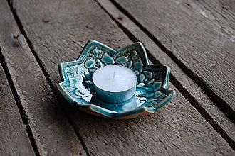 Svietidlá a sviečky - Keramická hviezdička - svietnik - 11386501_