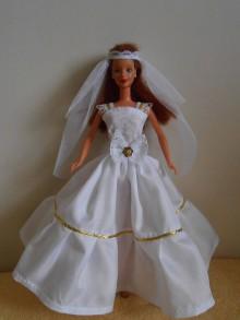Hračky - Svadobné šaty pre barbie - 11387939_